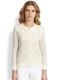 Tory Burch - Trixy Zip-Front Cardigan