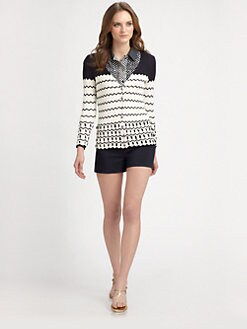 Tory Burch - Nicky Silk Cardigan Sweater
