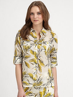 Tory Burch - Brigitte Printed Cotton Blouse