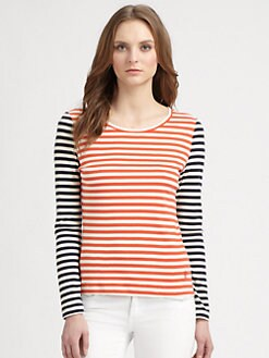 Tory Burch - Ebony Cotton T-Shirt