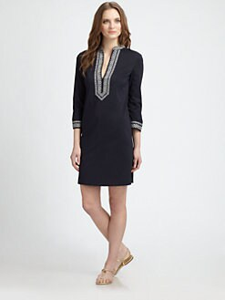 Tory Burch - Tory Embroidered Mini Dress