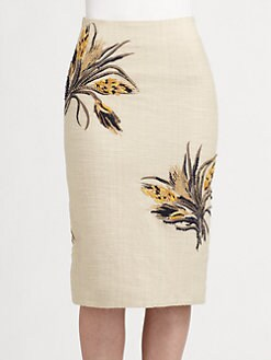 Tory Burch - Kimball Embroidered Skirt