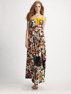 Tory Burch - Ivey Silk Maxi Dress