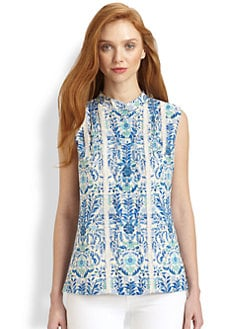 Tory Burch - Mari Lace-Trimmed Top