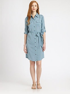Tory Burch - Brigitte Stretch Silk Shirtdress