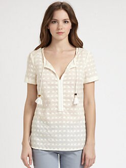 Tory Burch - Cotton Maxton Top