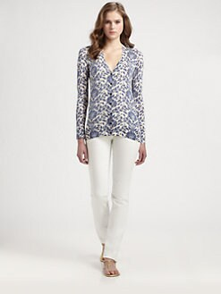 Tory Burch - Silk Irving Cardigan