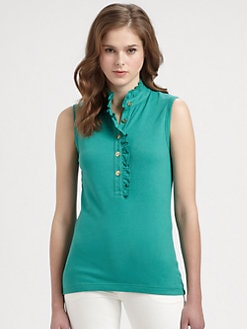 Tory Burch - Sleeveless Lidia Polo Shirt