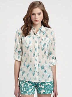 Tory Burch - Cotton Brigitte Blouse