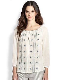 Tory Burch - Cotton/Linen Lucille Top