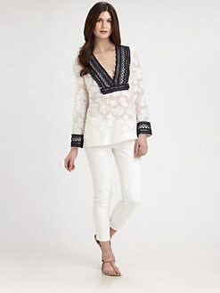 Tory Burch - Robin Embellished Tunic