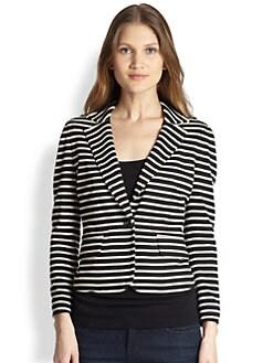 Tory Burch - Striped Knit Blazer