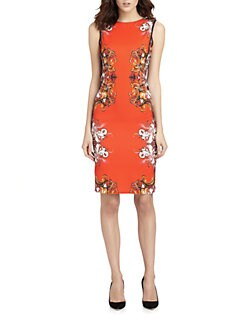 Roberto Cavalli - Print-Blocked Stretch Jersey Dress