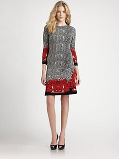 Roberto Cavalli - Printed Stretch Knit Dress