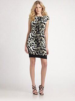 Roberto Cavalli - Brooch-Detailed Leopard-Print Stretch Jersey Dress