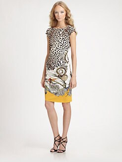 Roberto Cavalli - Arancio Print Dress