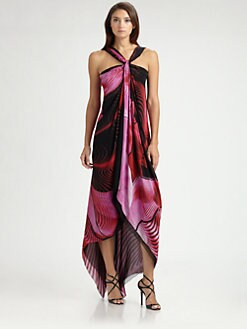 Roberto Cavalli - Silk Aphrodite Print Gown