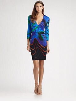 Roberto Cavalli - Jersey Turchese Print Dress