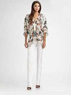 Roberto Cavalli - Silk Thalassa Print Caftan Top