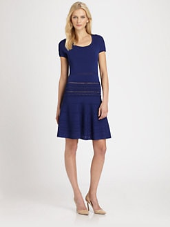 Roberto Cavalli - Cap-Sleeve Knit Dress