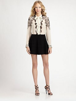 Roberto Cavalli - Silk Georgette Cornucopia Print Blouse