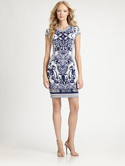 Roberto Cavalli - Floral Intarsia Knit Dress