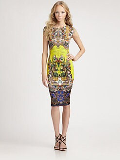 Roberto Cavalli - Citronelle Print Jersey Knit Dress