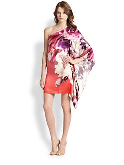 Roberto Cavalli - Silk One-Shoulder Caftan Dress