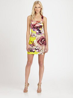 Roberto Cavalli - Floral-Print Stretch Jersey Dress