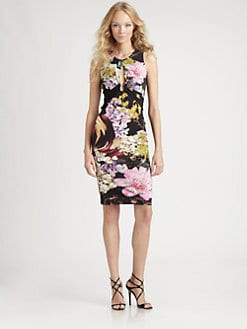 Roberto Cavalli - Floral Print Keyhole Dress