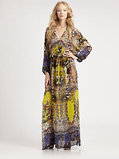Roberto Cavalli - Silk Chiffon Citronelle Print Caftan