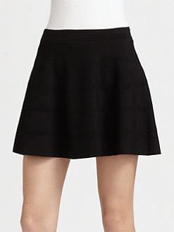 Roberto Cavalli - Mesh Inset Knit Skirt