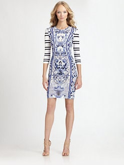 Roberto Cavalli - China Print Jersey Knit Dress