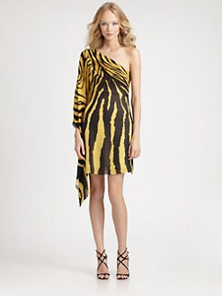 Roberto Cavalli - Silk Georgette Zebra Print Dress