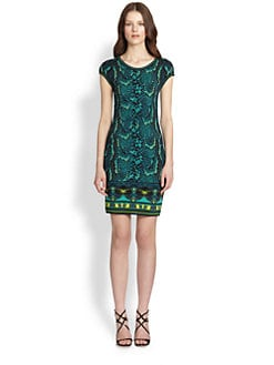 Roberto Cavalli - Snake-Print Stretch Jersey Dress