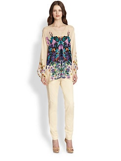 Roberto Cavalli - Floral-Print Silk Tunic