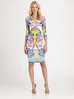 Roberto Cavalli - Printed Stretch Jersey Dress