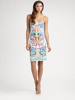 Roberto Cavalli - Strapless Nausicaa Print Dress