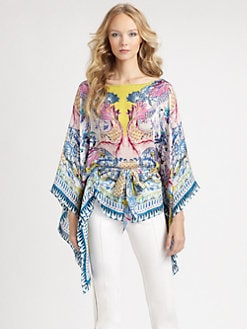 Roberto Cavalli - Silk Nausicaa Print Caftan