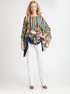 Roberto Cavalli - Silk Electra Print Caftan