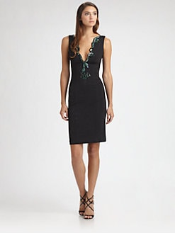 Roberto Cavalli - Embroidered Jersey Dress