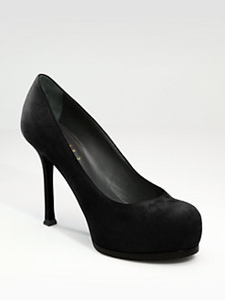 Saint Laurent - Trib Too Suede Pumps