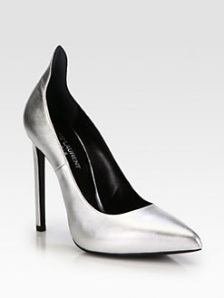 Saint Laurent - Paris Metallic Leather Pumps