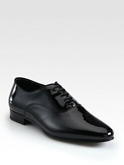Saint Laurent - Blake Patent Leather Lace-Up Oxfords