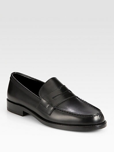 Classique Saint Laurent Leather Moccasins