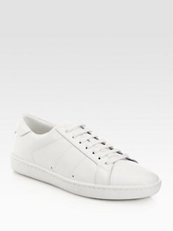 Saint Laurent - Leather Lace-Up Sneakers
