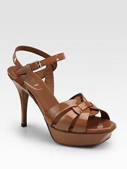 Saint Laurent - Tribute 75 Patent Sandals