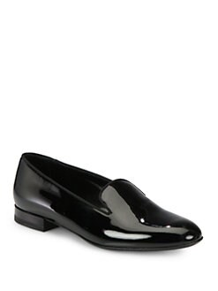 Saint Laurent - Saint Laurent Patent Leather Smoking Slippers