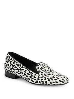 Saint Laurent - Leopard-Print Pony Hair Smoking Slippers