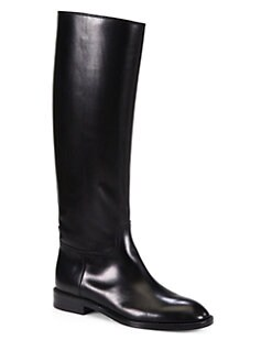 Saint Laurent - Saint Laurent Cavaliere Leather Boots